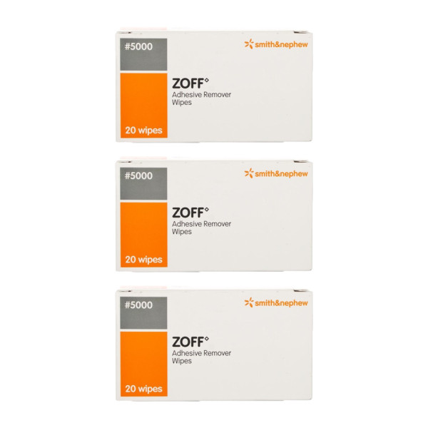 Zoff Adhesive Remover Wipes Triple Pack
