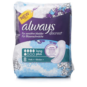 Always Discreet Long Plus Pads