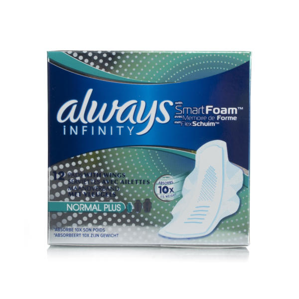 Always Infinity Normal Plus Pads With Wings