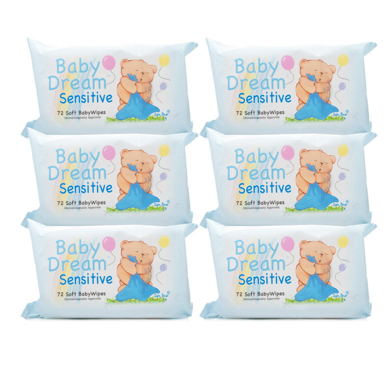 Click to view product details and reviews for Baby Dream Baby Wipes Sensitive 6 Pack.