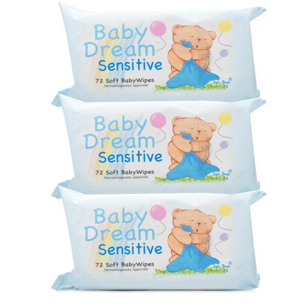 Baby Dream Baby Wipes Sensitive - Triple Pack