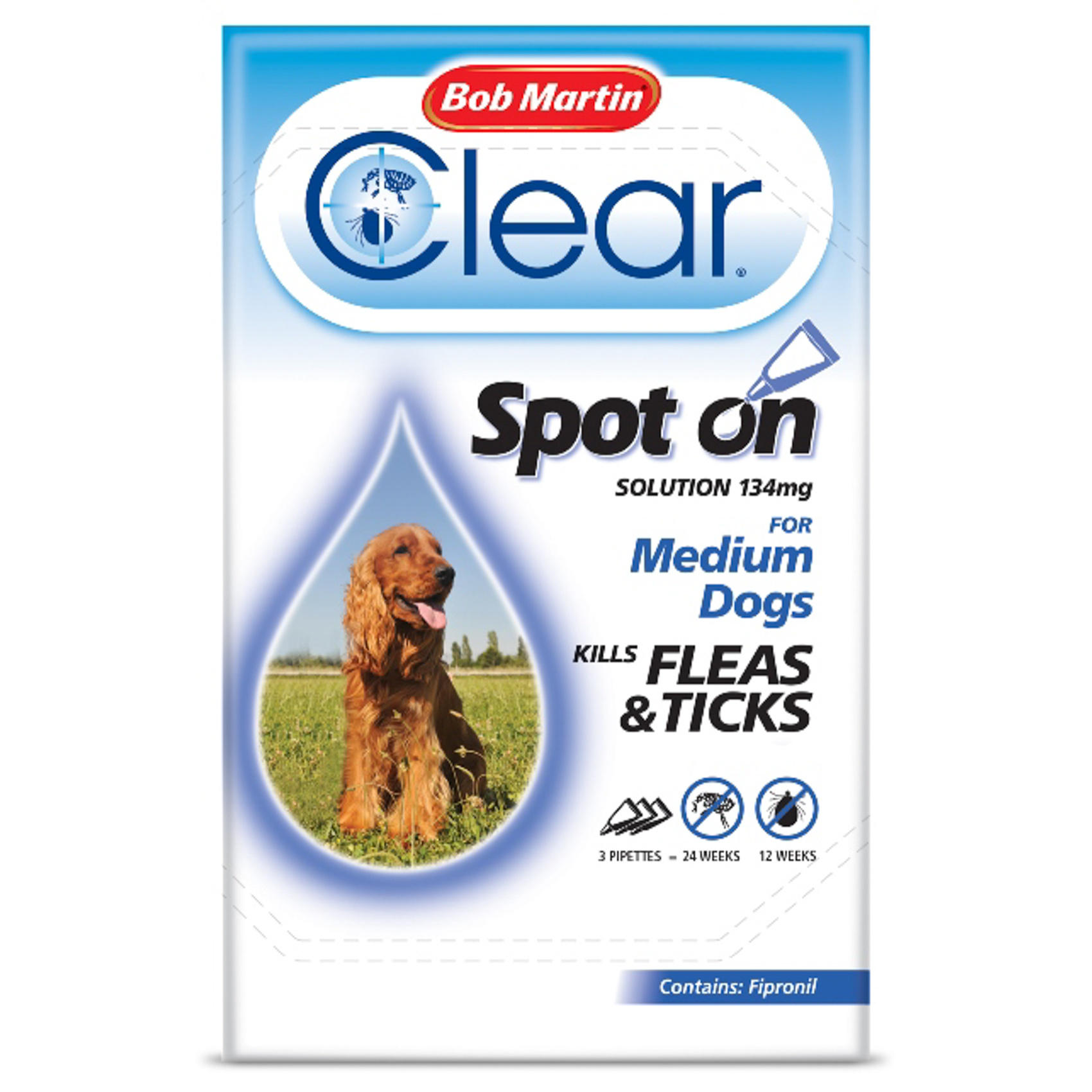 Bob Martin Flea Clear Spot On Medium Dog 10 20kg