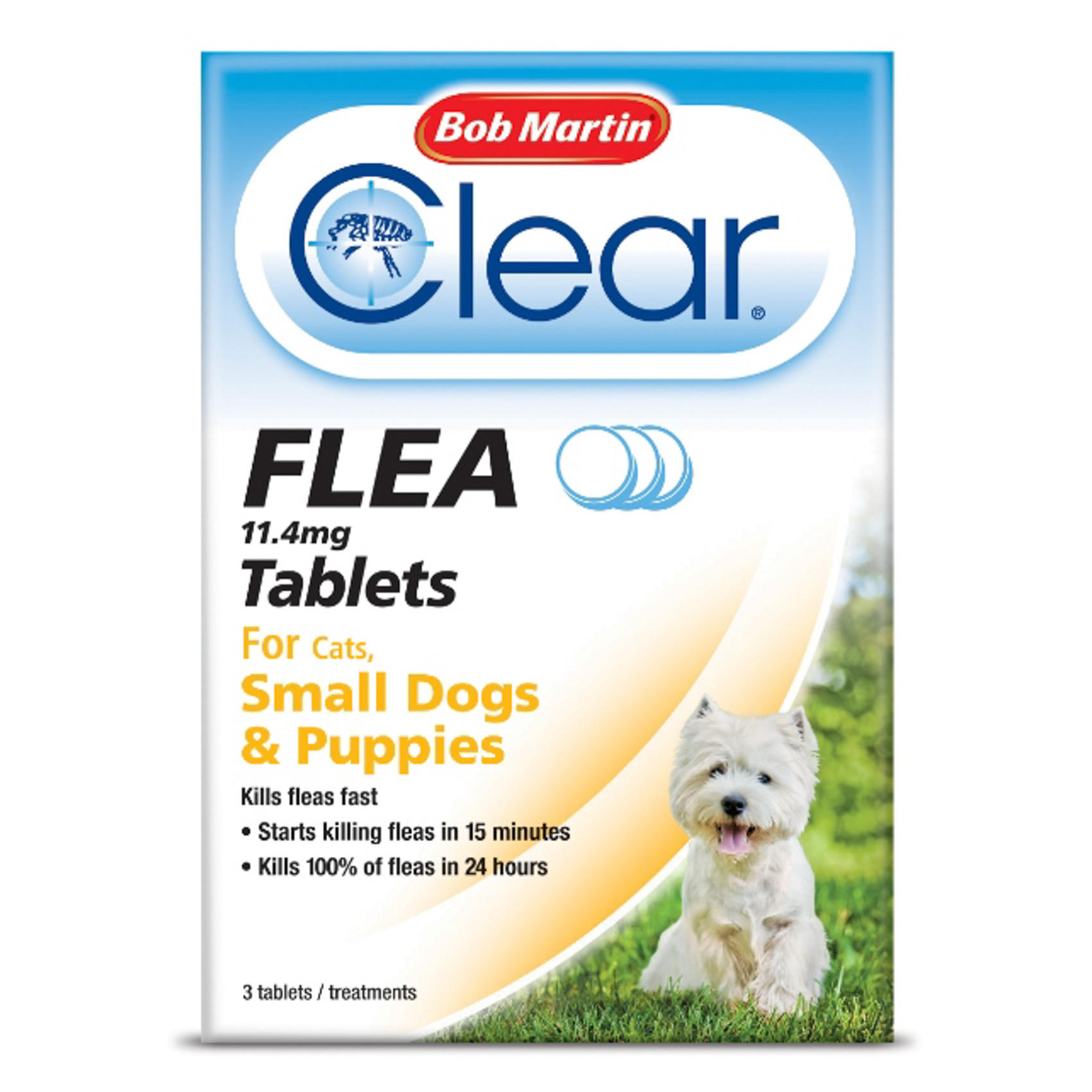 Bob Martin Flea Tablets For Small Dogs Under 11kg Puppies