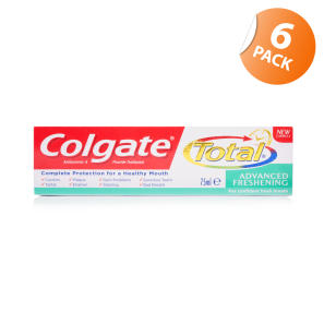 Colgate Total Advanced Freshening Toothpaste - 6 Pack