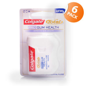 Colgate Total Pro Gum Health Floss - 6 Pack