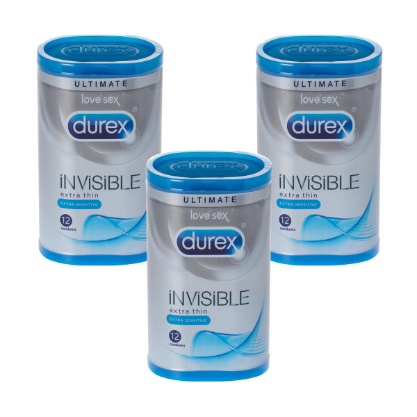 Durex Invisible Extra Sensitive Condoms Triple Pack