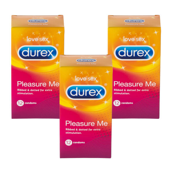 Durex Pleasure Me Condoms Triple Pack