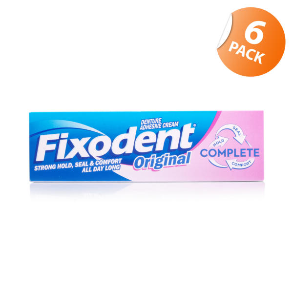 Fixodent Original Denture Adhesive Cream Mint 6 Pack