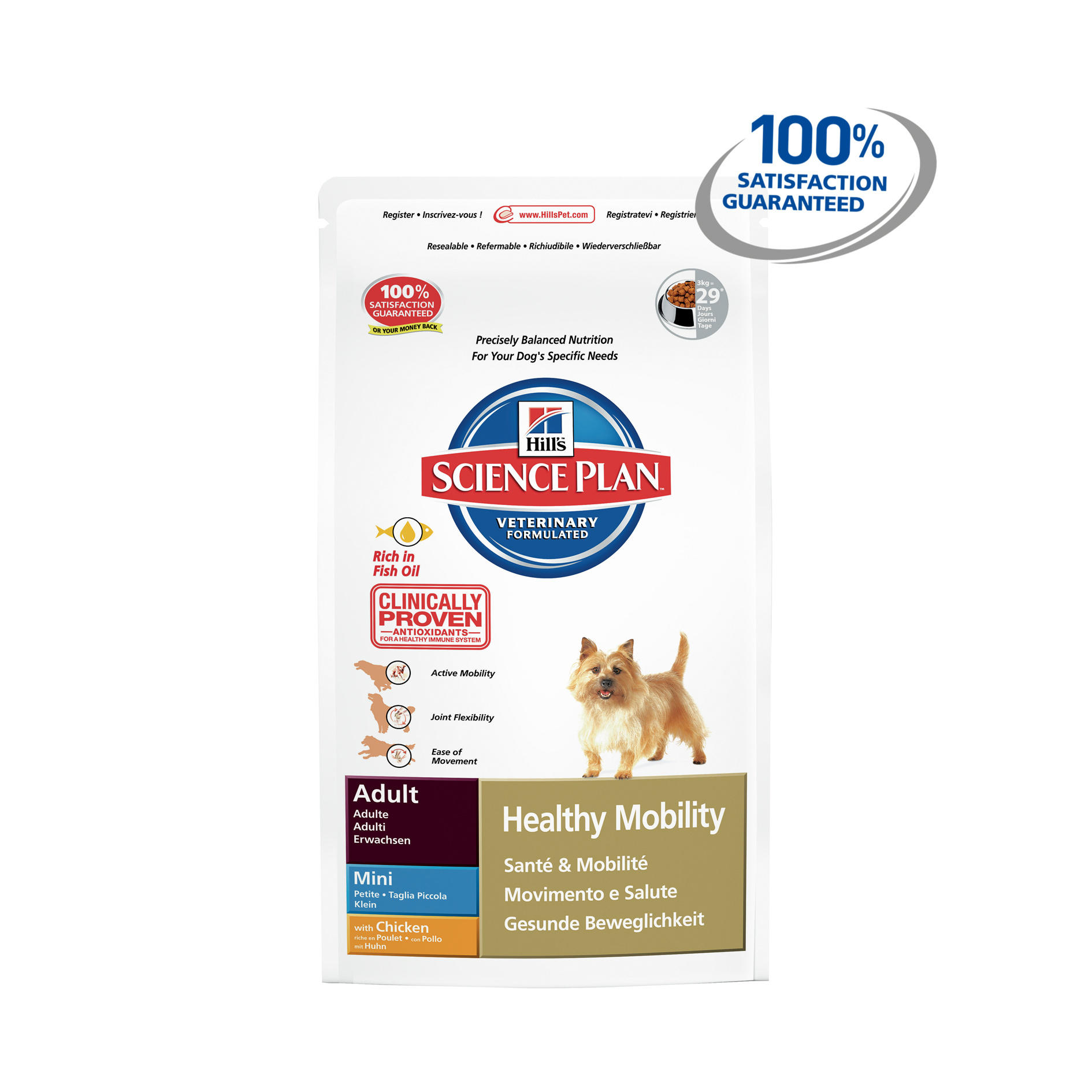 Click to view product details and reviews for Hills Science Plan Canine Healthy Mobility Mini Chicken.