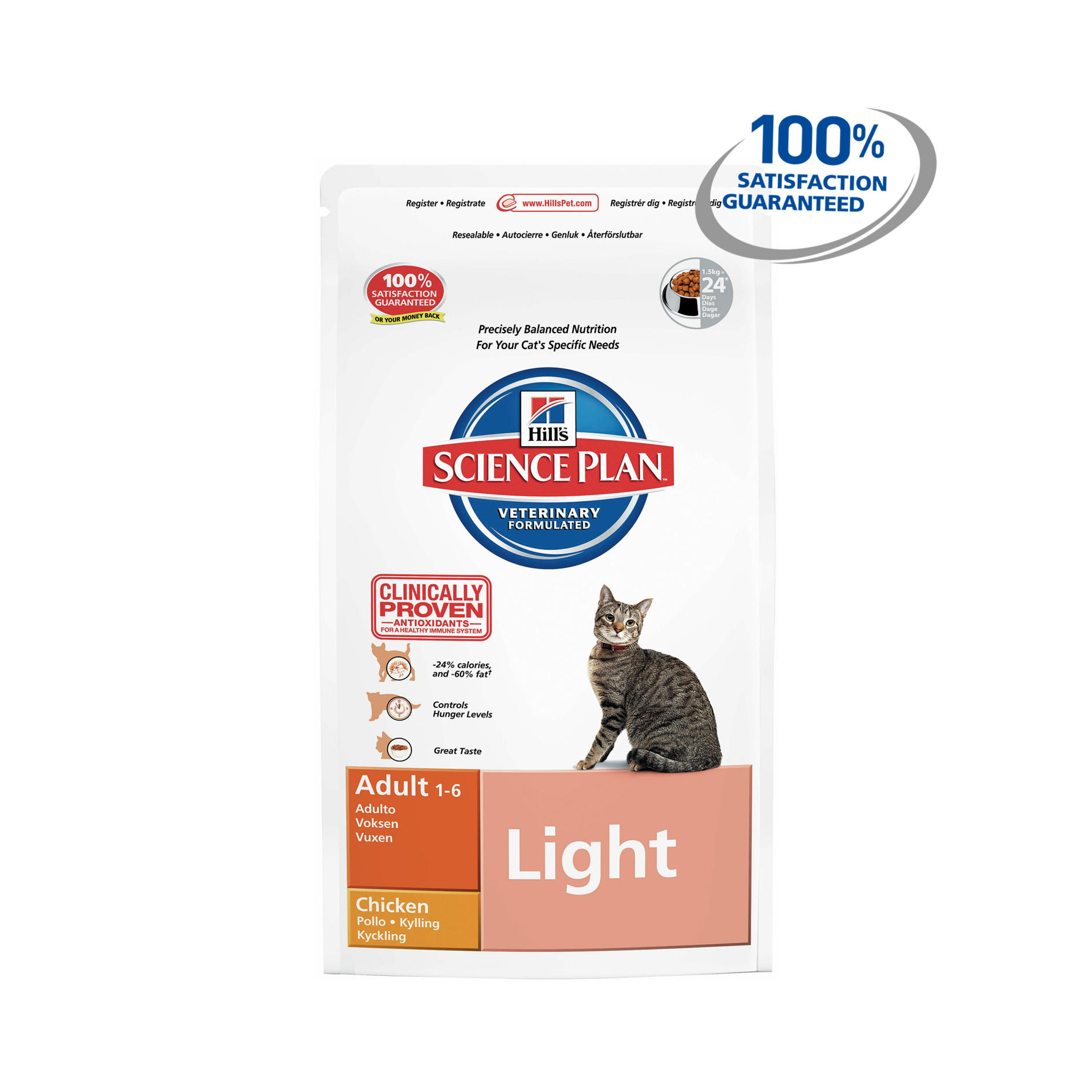 Click to view product details and reviews for Hills Science Plan Feline Adult Light With Chicken.