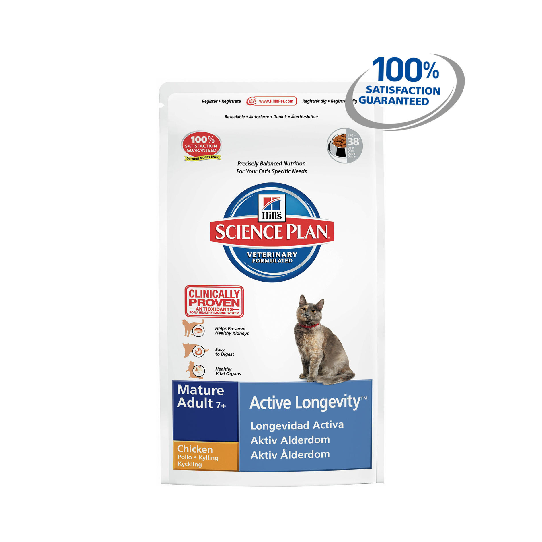 Click to view product details and reviews for Hills Science Plan Feline Mature Adult 7 Active Longevity With Chicken.