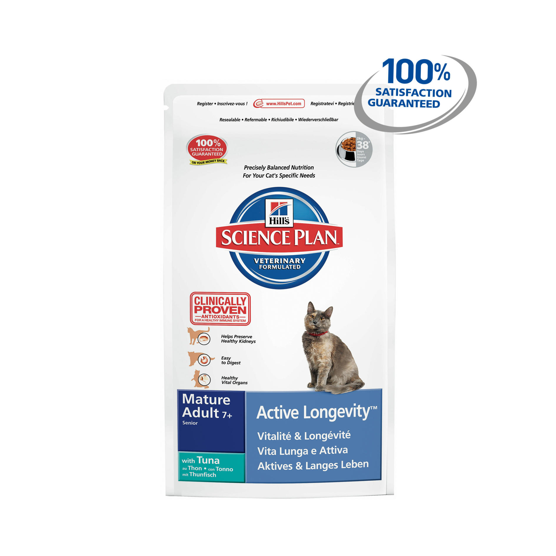 Click to view product details and reviews for Hills Science Plan Feline Mature Adult 7 Active Longevity With Tuna.