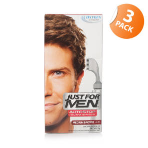 Just for Men Autostop Hair Colour 35 Medium Brown - Triple Pack