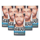 Just For Men Brush-In Facial Hair Colour - Dark Brown-Black 6 Pack