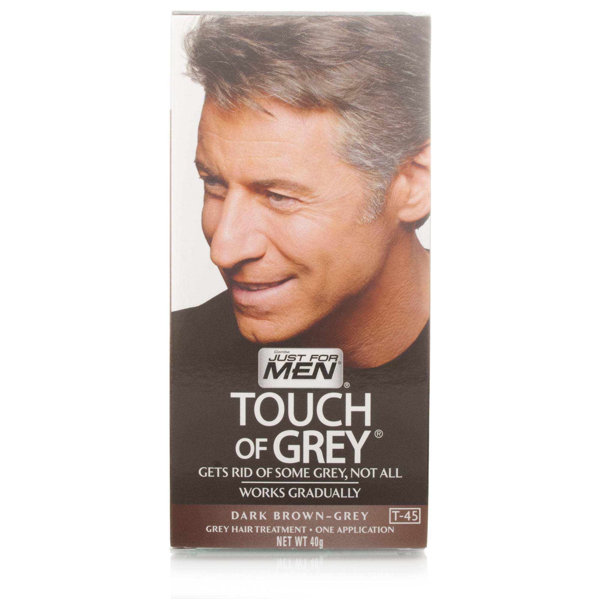 Just For Men T45 Touch Of Grey Hair Color Dark Brown 40g Ebay