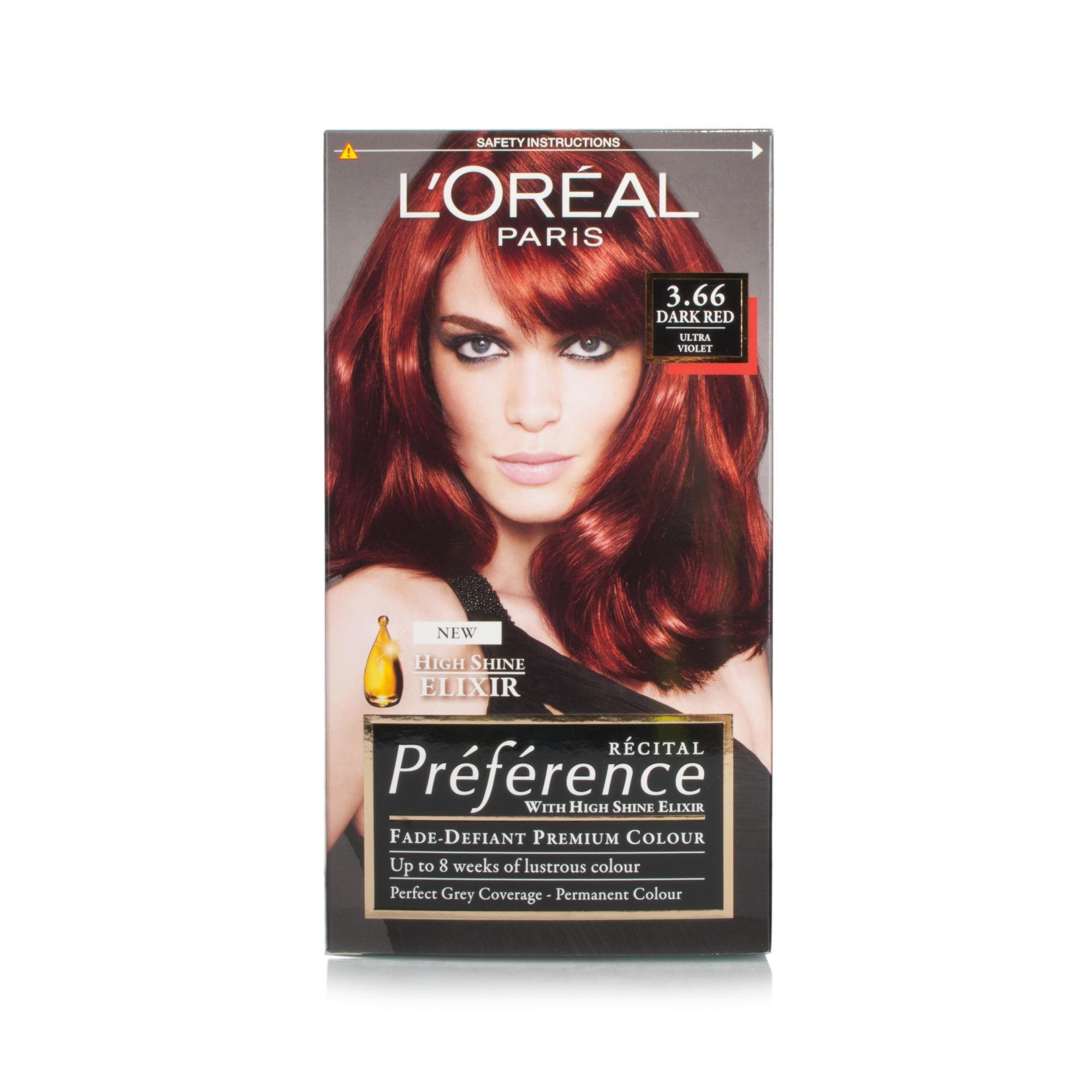 Loreal Paris Preference Hair Colour 366 Dark Red Ultra Violet Ebay
