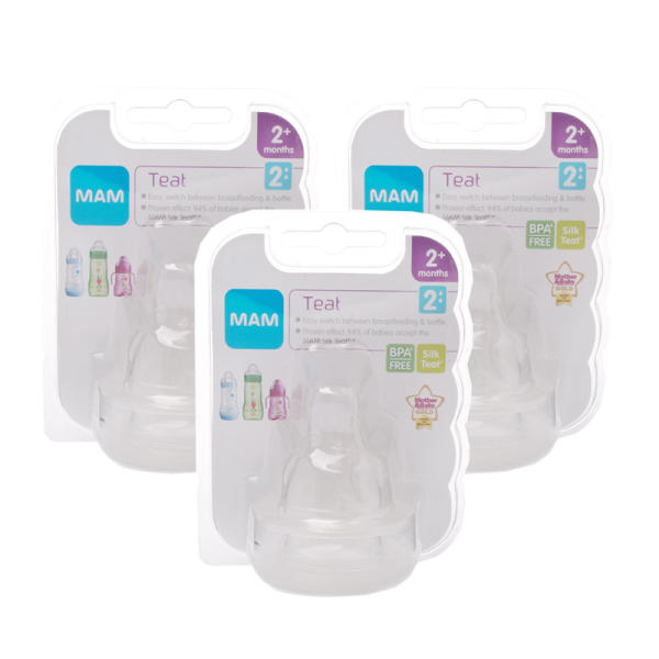 MAM Teat 2 Medium Flow - Triple Pack