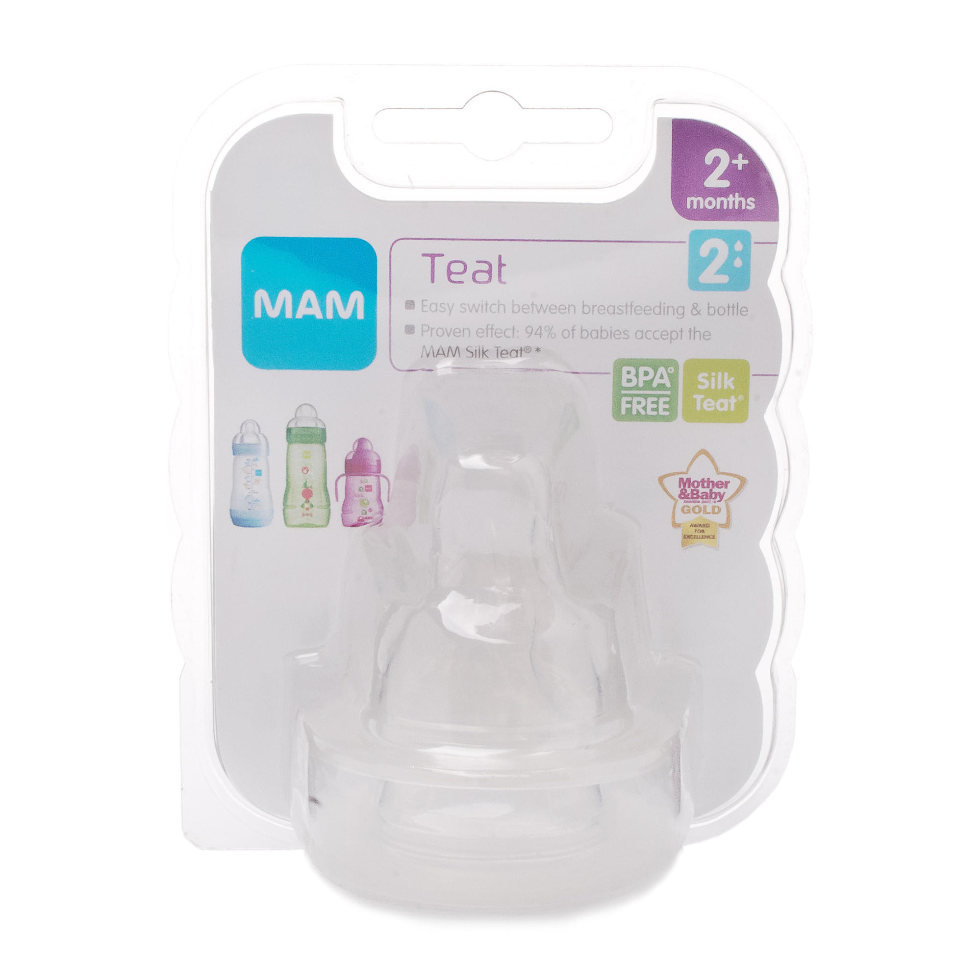 Click to view product details and reviews for Mam Teat 2 Medium Flow.