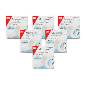 3m Micropore Surgical Tape 6 Pack