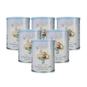 Nannycare 3 Goat Milk Based Growing Up Milk From 1-3 Years - 6 Pack
