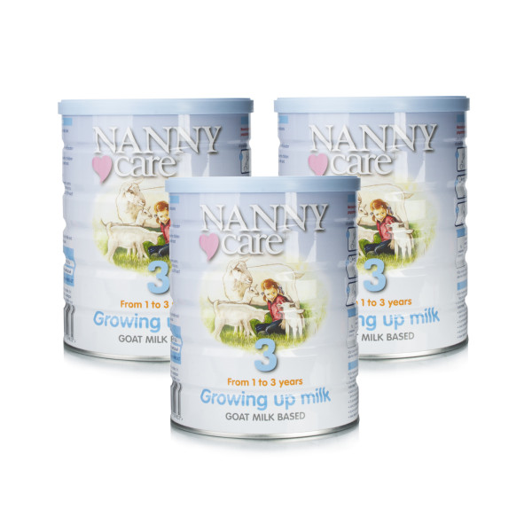 Nannycare 3 Goat Milk Based Growing Up Milk From 1-3 Years - Triple Pack