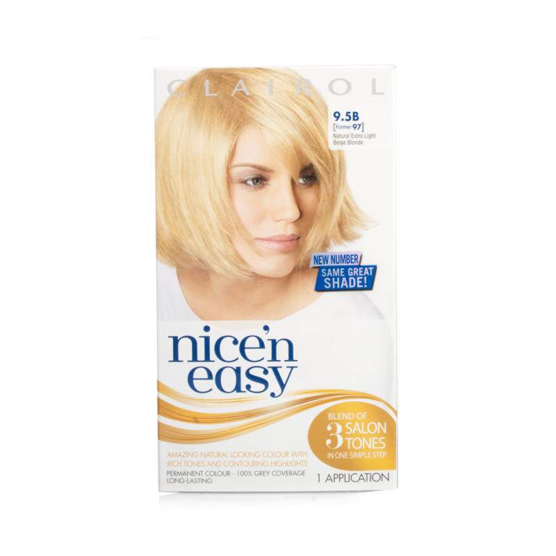 Nice N Easy Natural Extra Light Beige Blonde Permanent Hair Colour 95b