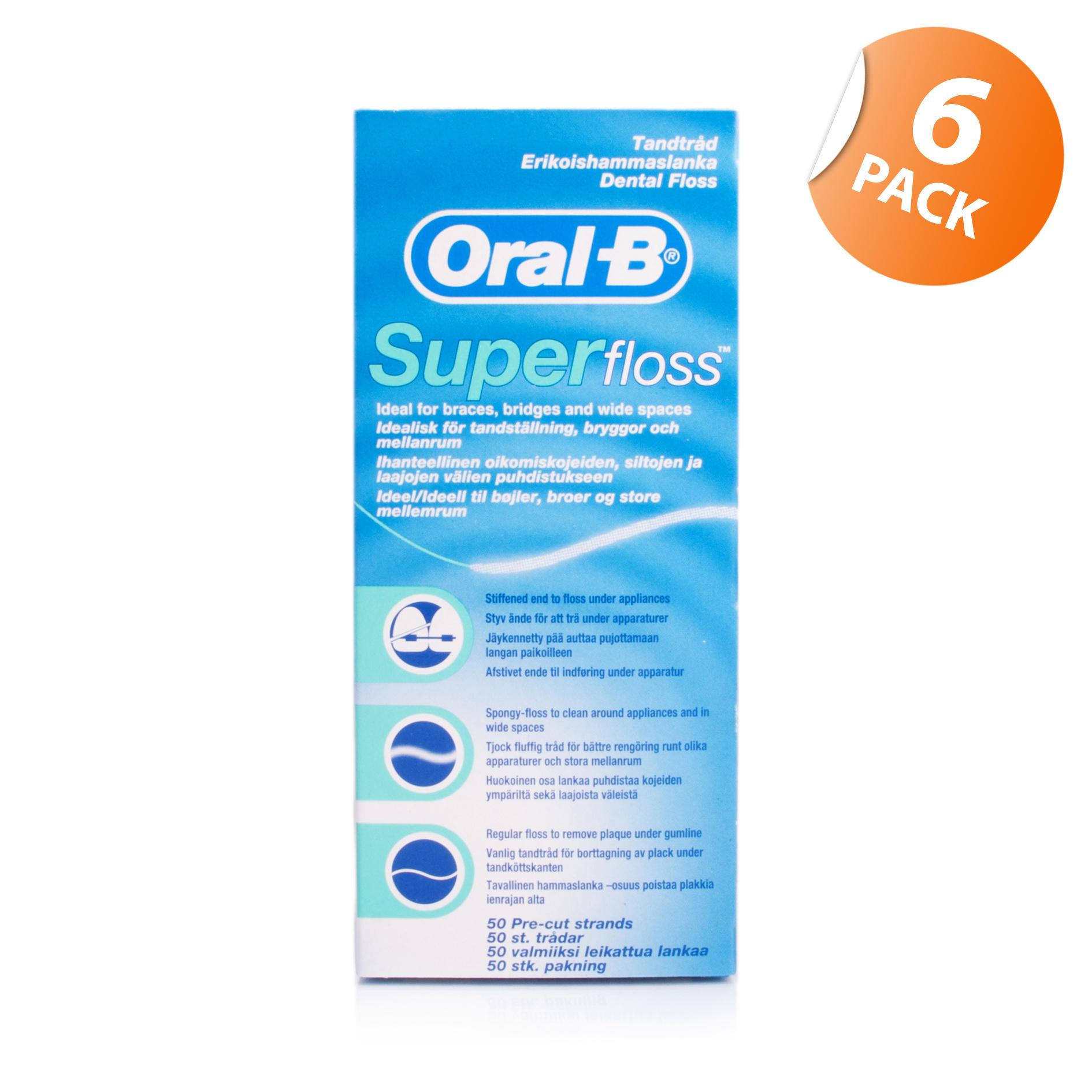 Oral-B Super Floss 6 Pack