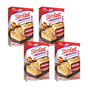 SlimFast Yogurt Fruit Crunch 4 Packs of 4 x 60g Bars