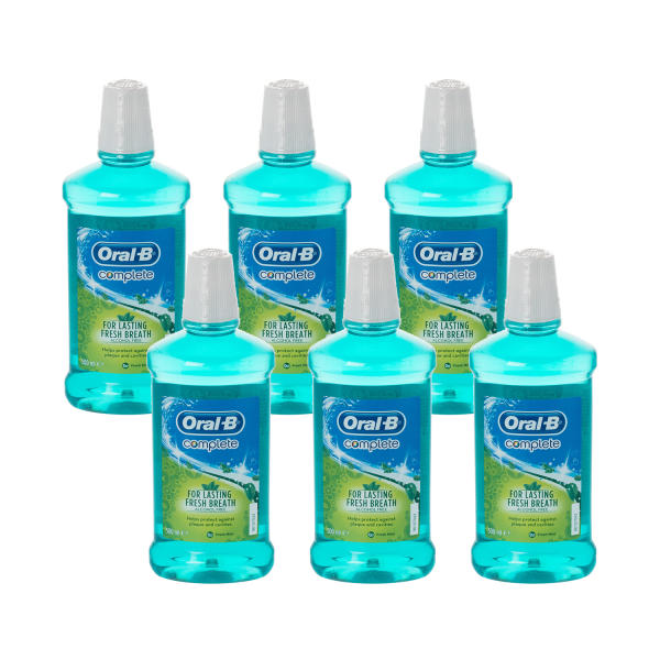 Oral-B Complete Mouthwash Fresh Mint 6 Pack