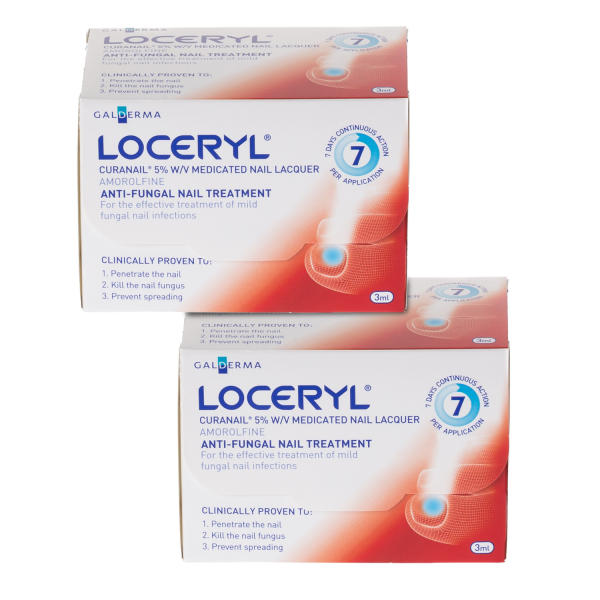 Loceryl Curanail 5% Nail Lacquer Amorolfine Treatment - Twin Pack
