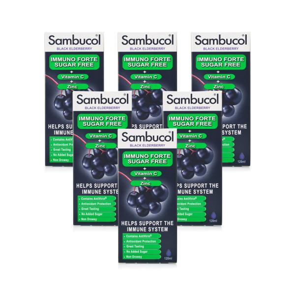 Sambucol Immuno Forte Sugar Free Liquid 6 Pack