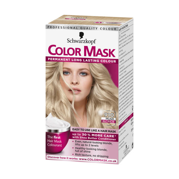 Schwarzkopf Colour Mask 910 Pearl Blonde Hair Dye