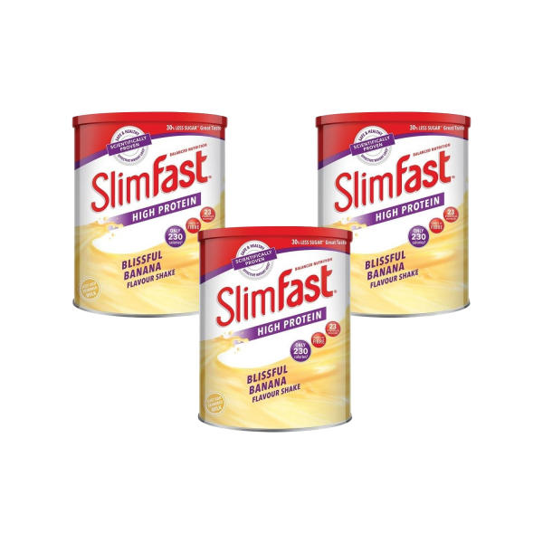 Slimfast Powder Tin Banana - Triple Pack