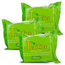 Tea Tree Cleansing Wipes 25s - Triple Pack