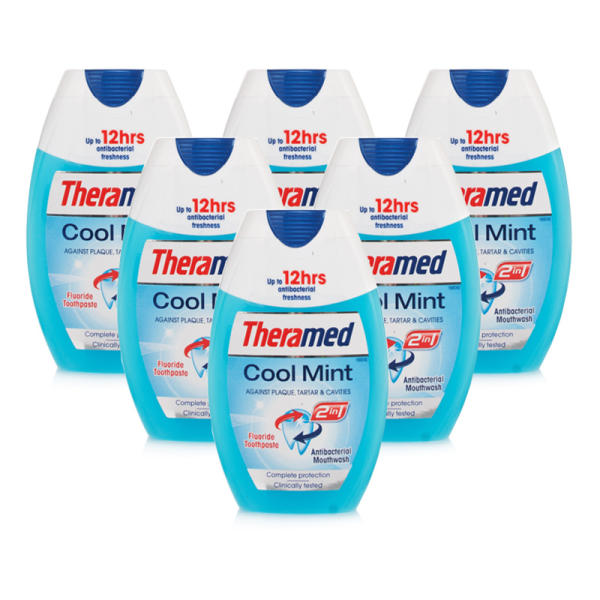 Theramed 2 In 1 Cool Mint - 6 Pack