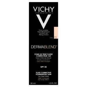 Vichy Dermablend Corrective Foundation Shade 15 Opal with SPF35