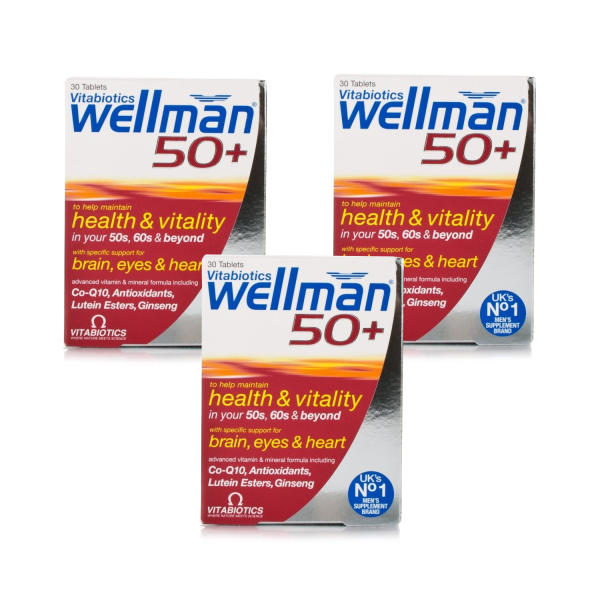 Vitabiotics Wellman 50+ Triple Pack