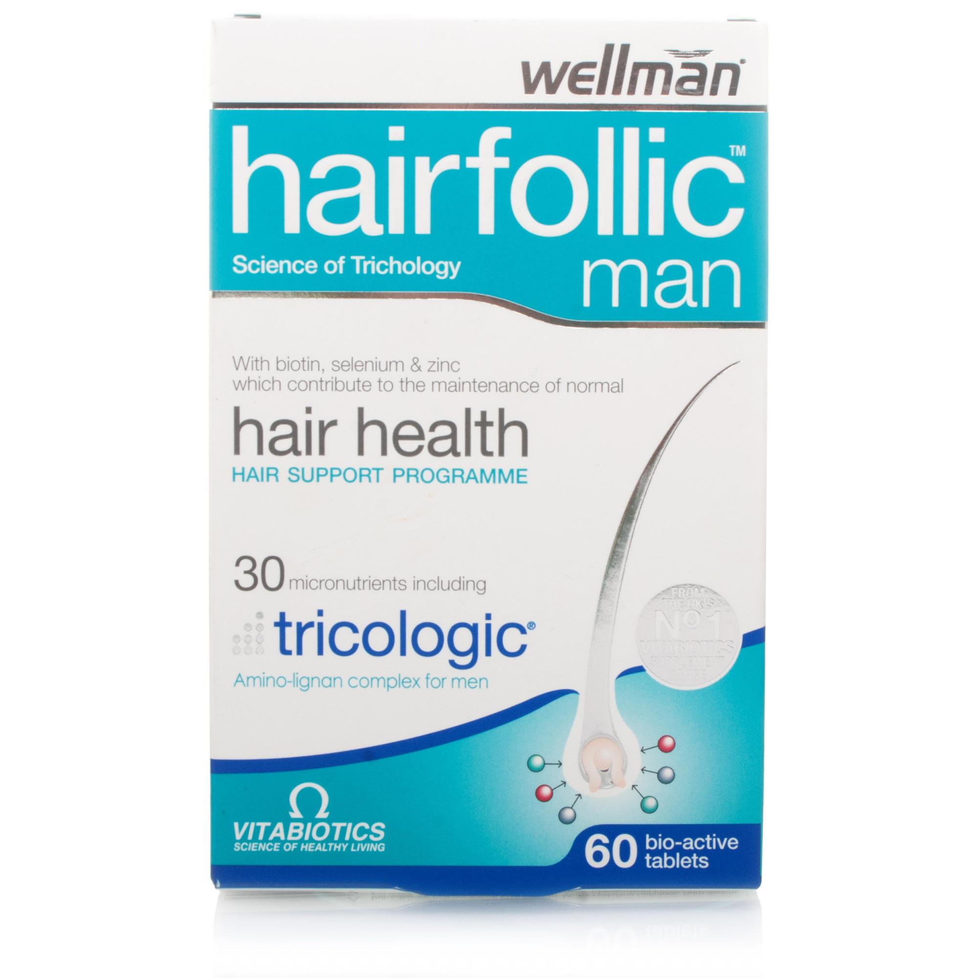 Vitabiotics Wellman Hairfollic Tablets